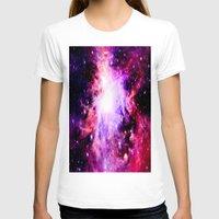 nebula T-shirts featuring Orion NebuLa. Purple Fuchsia Galaxy by 2sweet4words Designs