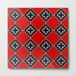 Native ethnic pattern Metal Print