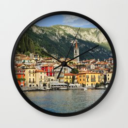 View of a Town on Lake Como, Varenna, Lombardy, Italy Wall Clock