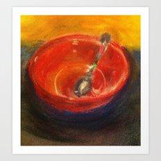 Red Bowl Art Print