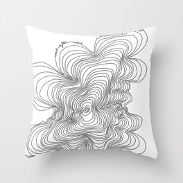 Wave after Wave Throw Pillow