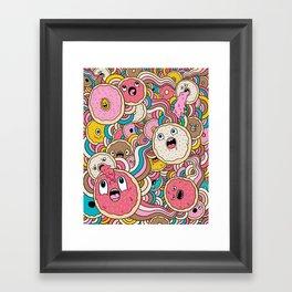 Donut Doodle Framed Art Print