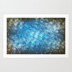 Shimmering Stars Art Print