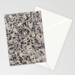Gray Ink Splatter Stationery Cards