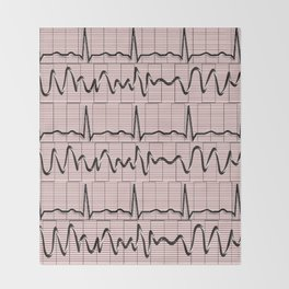 Cardiac Rhythm Strips EKG Throw Blanket