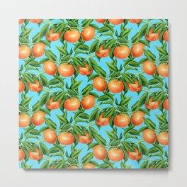 Mandarin pattern Metal Print
