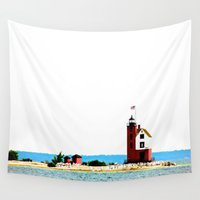 lighthouse Wall Tapestries featuring Lighthouse by Pedro M Antunes