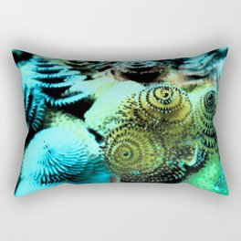 Tiny Marine Trees Rectangular Pillow