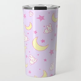Sailor Moon Usagi Bunny and the Moon pattern print Travel Mug