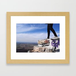 High Rock Framed Art Print