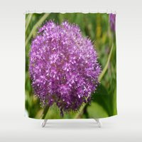 globe Shower Curtains featuring Blue Globe by Christiane W. Schulze Art and Photograph