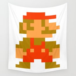 Pixel Mario Wall Tapestry