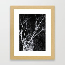 Dark Naked Presence of Trees in Winter Framed Art Print