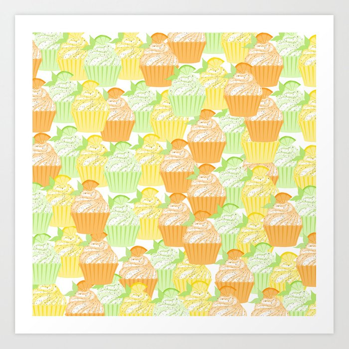 Cupcake Collage Art Print