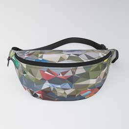 Greenland Village Low Poly Geometric Triangles Mathematical Art Fanny Pack