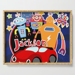 Jax-Red Car + Robots Serving Tray