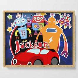 Jax-Red Car + Robots Serving Tray