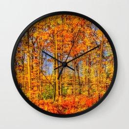 Trees Of Fall Wall Clock