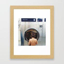 laundromat Framed Art Print