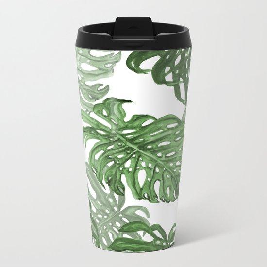 Monstera Deliciosa Metal Travel Mug