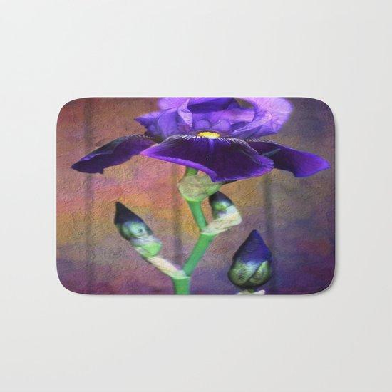Sweet Purple Iris Bath Mat