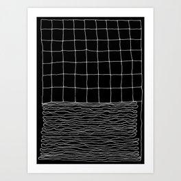 Hand Drawn Grid Art Print