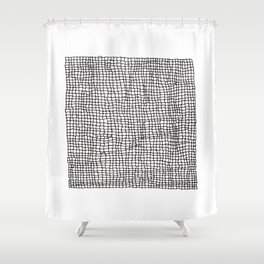 Square Imperfections Shower Curtain