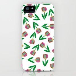 patron de tulipanes coloridos iPhone Case