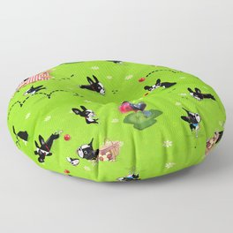 Mirabelle goes to the park a happy dog adventure Floor Pillow