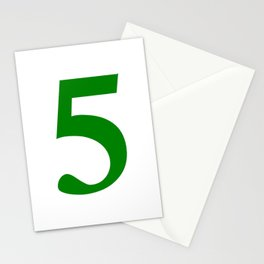 5 (GREEN & WHITE NUMBERS) Stationery Cards