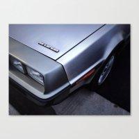 delorean Canvas Prints featuring DeLorean by John Dedeke