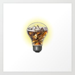 A Turn On Bulb Art Print