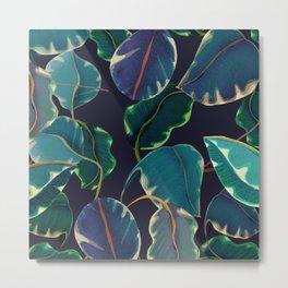 tropical leaves in the nigth Metal Print