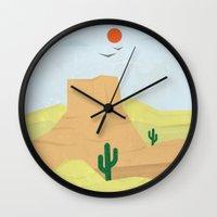 western Wall Clocks featuring So Western by Ivine Bedran