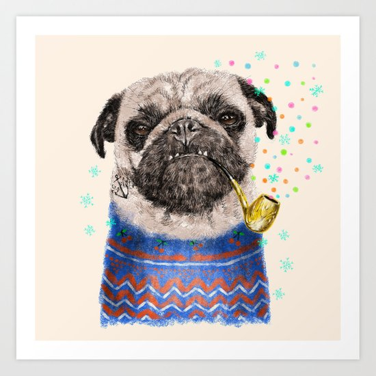 Mr.Pug II Art Print