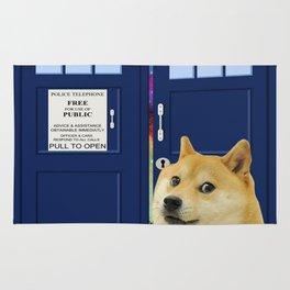 I Doge Shibe Doge on tardis doctor who Rug