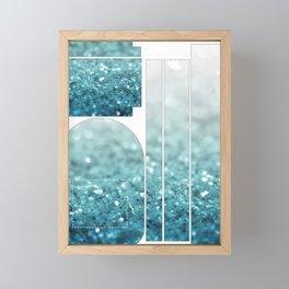 MERMAID GLITTER - MERMAIDIANS AQUA Framed Mini Art Print