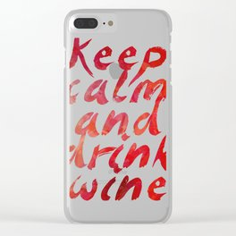 Keep calm and... Life Enjoy Quote Clear iPhone Case