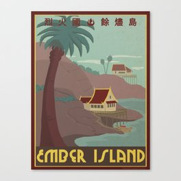Ember Island Travel Poster Canvas Print