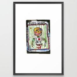 Puss Head Framed Art Print
