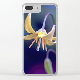 Yellow Lily Flower Clear iPhone Case