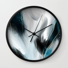 Dark Aqua Wall Clock