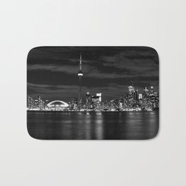 Toronto Skyline, Monocrome Bath Mat