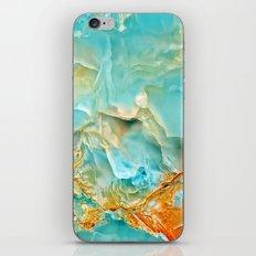 Onyx - blue and orange iPhone & iPod Skin