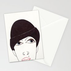 girl in a hat Stationery Cards