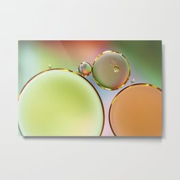 Oil On Water Edged With Gold Metal Print