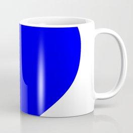Heart (Blue & White) Coffee Mug