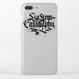 Kustom Calligraphy Clear iPhone Case