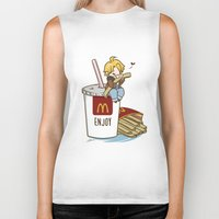 hetalia Biker Tanks featuring Hetalia - America Loves McDonalds  by BlacksSideshow