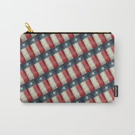 Vintage Texas flag pattern Carry-All Pouch